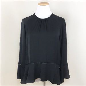 Mossimo navy long sleeve blouse